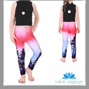 Lotus Leggings Enchanted Forest Youth L